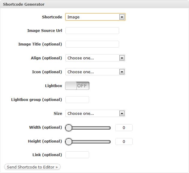 Shortcode Generator