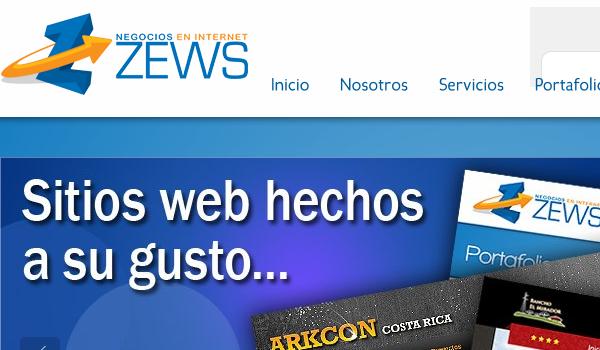 Diseño web en Costa Rica, ZEWS S.A.